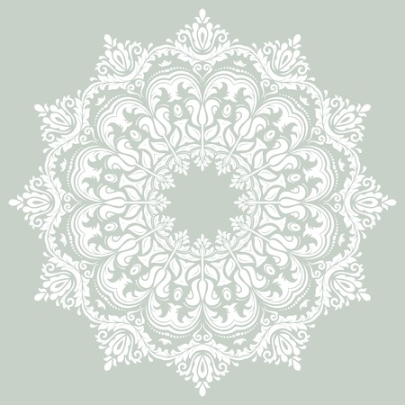 Oriental vector pattern with damask, arabesque and floral elements. Abstract background Vector