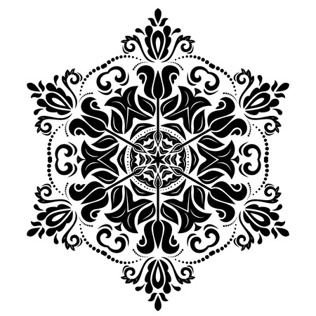 Oriental vector pattern with damask, arabesque and floral elements. Abstract background Stock Illustratie