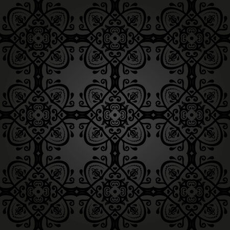 oriental vector: Oriental vector pattern with damask, arabesque and floral elements. Seamless abstract background