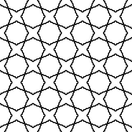 Geometric vector pattern with oriental elements. Seamless background. Abstract texture Vector