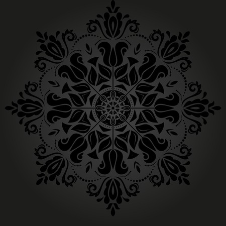Oriental vector pattern with damask, arabesque and floral elements. Abstract background Illustration
