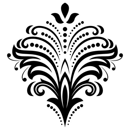 oriental vector: Oriental vector pattern with damask, arabesque and floral elements. Abstract background Illustration
