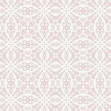Bloemen vector oosters patroon met damast, arabesque en bloemenelementen. Naadloze abstracte achtergrond en achtergrond Stockfoto - 31523634