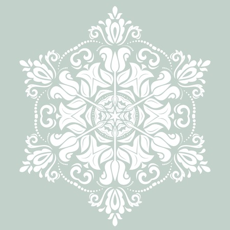 patch of light: Orient vector ornamental round lace with damask and arabesque elements. Traditional ornament
