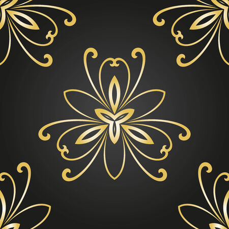 Floral vector oriental pattern with damask, arabesque and floral elements. Seamless abstract wallpaper and background Vector