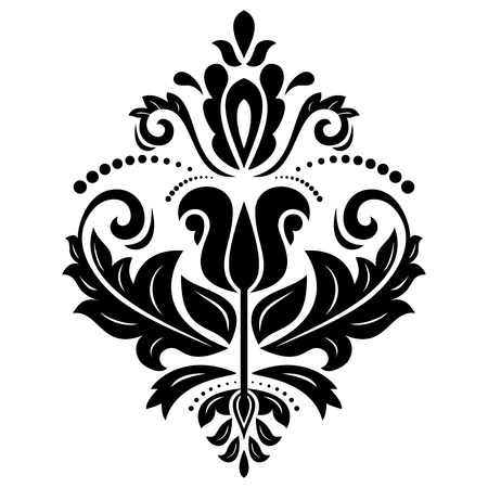 Oriental  pattern with damask, arabesque and floral elements. Seamless abstract background photo