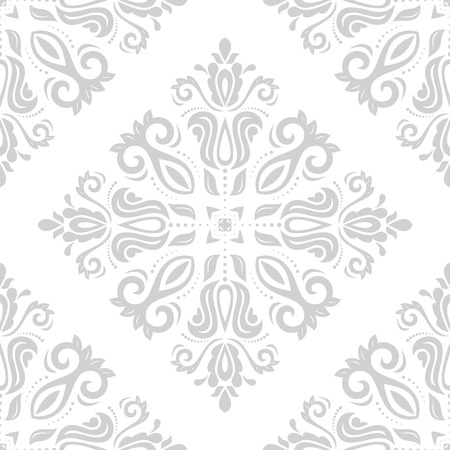 Damask vector floral pattern with arabesque and oriental elements. Seamless abstract wallpaper and background Vector