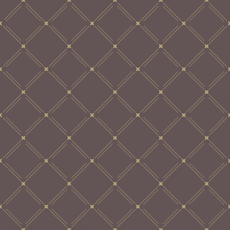 Geometric pattern. Brown seamless abstract texture for wallpapers and background Vector
