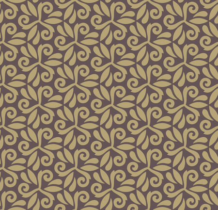 Floral oriental pattern with damask, arabesque and floral elements. Vector