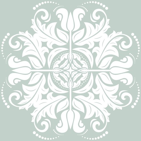 Floral oriental pattern with arabesque and floral elements.  Vector