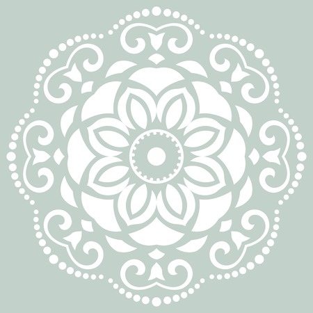 Damask  floral pattern with arabesque and oriental elements. Seamless abstract wallpaper and background photo