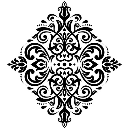 Damask vector floral pattern with arabesque and oriental elements. Seamless abstract tradiional ornament for wallpaper and background Vector