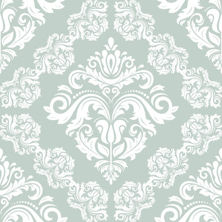 traditonal: Damask vector floral pattern with arabesque and oriental elements. Light seamless abstract traditonal ornament for wallpaper and background