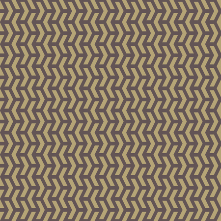 Geometric vector pattern with triangular golden elements. Seamless abstract ornament for wallpapers and background Vector