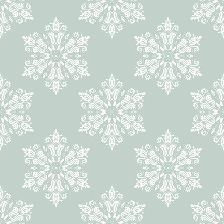 oriental vector: Oriental vector pattern with damask, arabesque and floral elements. Light seamless abstract background Illustration
