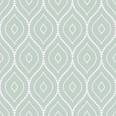 Geometric fine abstract vector pattern with dots. Seamless blue and white background Vector