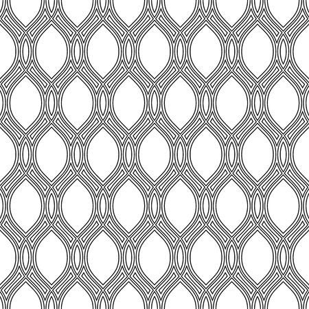 Geometric pattern. Seamless vector texture for background. Black and white colors Vector