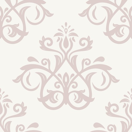 Damask vector floral pink pattern with arabesque and oriental elements. Seamless abstract traditional ornament for wallpapers and backgrounds