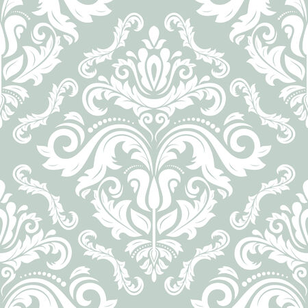 damask pattern: Floral  oriental pattern with damask, arabesque and floral elements.