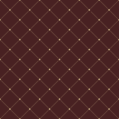 Geometric modern vector seamless pattern. Repeating texture with dotted golden elements Vector