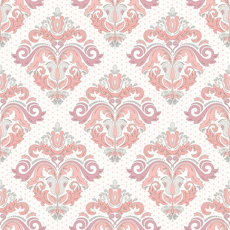 Damask  floral pattern with arabesque and oriental colrful elements. Seamless light abstract traditional ornament for wallpapers and background Stock Photo