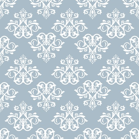 Damask  floral pattern with arabesque and oriental elements. Seamless abstract tradiional ornament for wallpaper and background photo