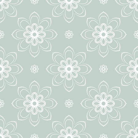 rapport: Floral vector oriental pattern with damask, arabesque and floral white elements. Seamless abstract ornament for wallpapers and backgrounds