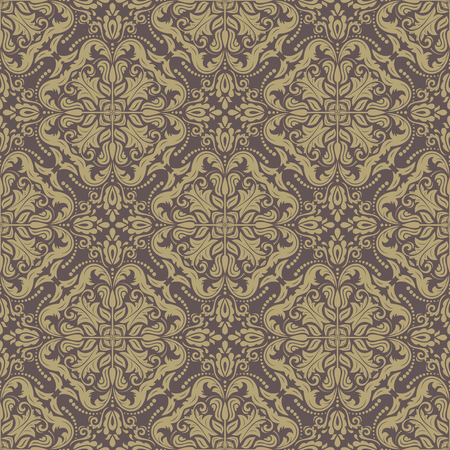 Damask  floral pattern with arabesques. Seamless abstract tradiional ornament for textures and background photo