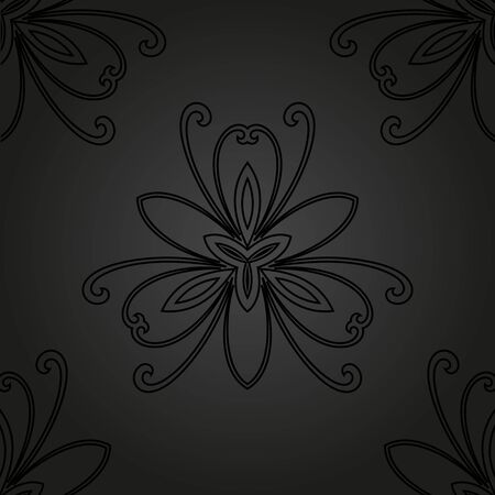 tillable: Floral  oriental pattern with damask, arabesque and floral elements. Seamless abstract wallpaper and background