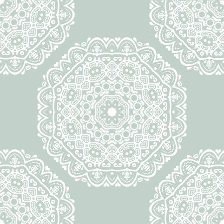 rapport: Floral  oriental pattern with damask, arabesque and floral elements. Seamless abstract wallpaper and background