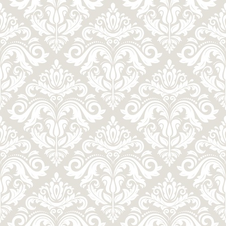 Wallpaper in the style of Baroque. Seamless vector background. Light damask floral pattern with orient and floral elements