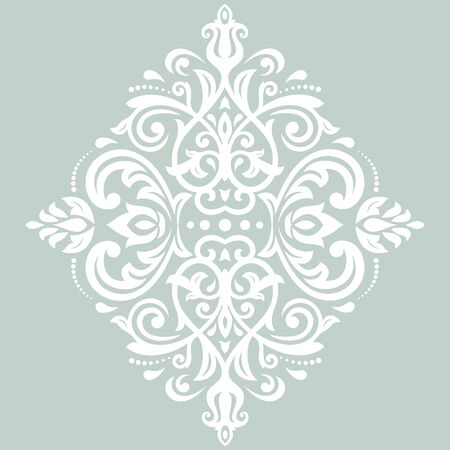 patch of light: Damask vector floral pattern with arabesque and oriental white elements. Abstract traditional ornament for wallpapers and backgrounds Illustration