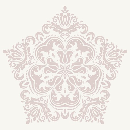 Damask vector floral pattern with arabesque and oriental elements. Abstract pink traditional ornament for wallpapers and backgrounds Vector
