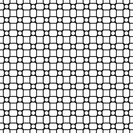 Geometric pattern. Seamless vector background. Abstract texture for wallpapers. Black and white colors Vector