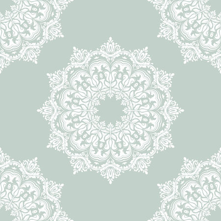tillable: Floral  oriental pattern with damask, arabesque and floral elements. Light seamless abstract wallpaper and background