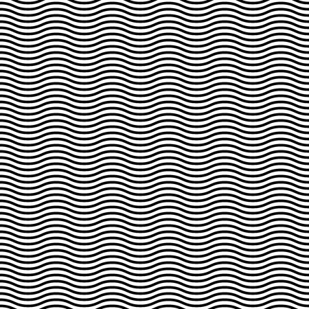 Geometric pattern. Seamless vector background. Abstract waves. Black and white colors Vector
