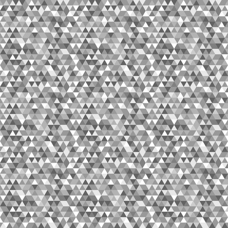 Geometric vector pattern with black, gray and white triangular elements. Seamless abstract texture for wallpapers and backgrounds Ilustração