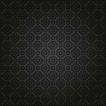 black pattern: Geometric fine abstract  pattern. Seamless dark modern texture for wallpapers and background