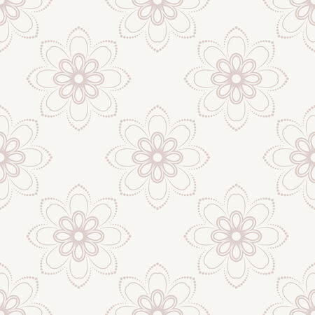 Floral vector oriental pattern with damask, and floral pink elements. Seamless abstract ornament for backgrounds Vector