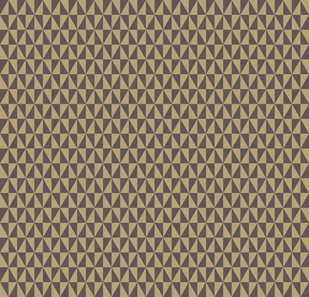 Geometric vector pattern with brown and golden triangles. Seamless abstract texture for wallpapers and backgrounds Vector