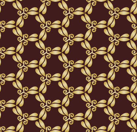 Geometric pattern. Seamless vector golden background. Abstract texture for wallpapers Vector
