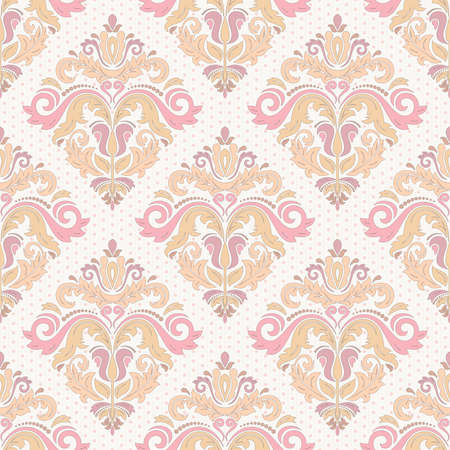 colrful: Damask  floral pattern with arabesque and oriental colrful elements. Seamless abstract traditional ornament for wallpapers and backgrounds Stock Photo