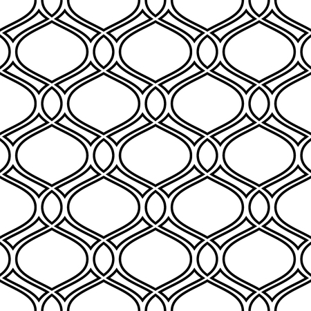 Geometric pattern. Seamless vector background. Abstract texture for wallpapers. Black and white colors Stock Illustratie