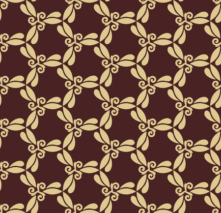 rapport: Floral  oriental pattern with damask, arabesque and floral golden elements. Seamless abstract ornament for wallpapers and backgrounds Stock Photo