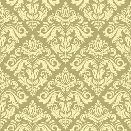 Damask seamless pattern. Vector traditional golden ornament with oriental elements for backgrounds Vector