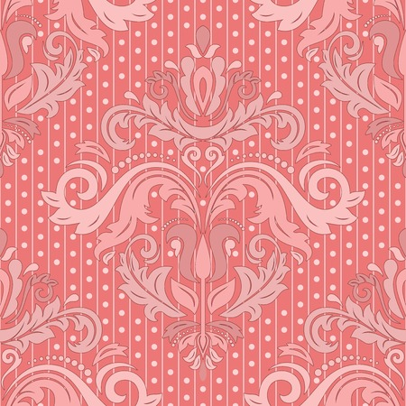Damask seamless pattern. Vector traditional ornament with colorful oriental elements for backgrounds Vector