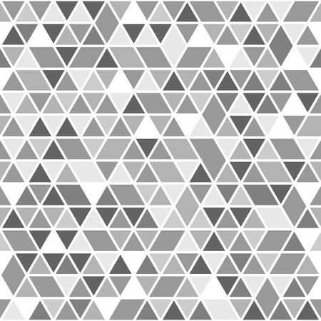 Geometric vector pattern with grey and white triangles. Seamless abstract texture for wallpapers and backgrounds Vector