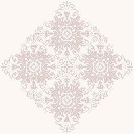 oriental vector: Oriental vector pattern with arabesque and floral elements. Abstract pink ornament
