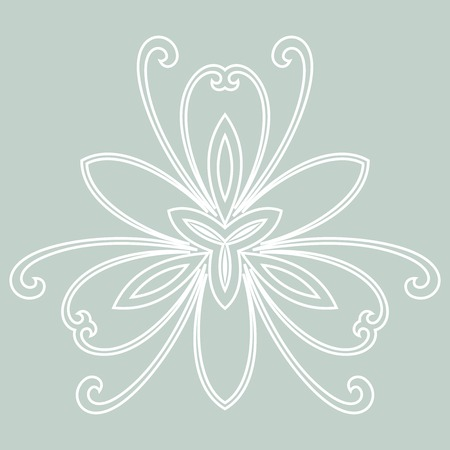 Damask vector floral pattern with arabesque and oriental elements. Abstract traditional ornament for backgrounds. Blue and white colors Vector