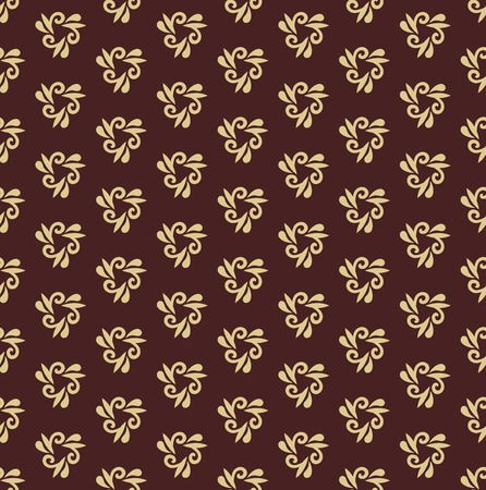 Floral  oriental pattern with damask, arabesque and floral golden elements. Seamless abstract ornament for wallpapers and backgrounds Stockfoto